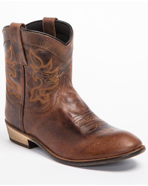 Dingo Willie Short Cowgirl Boots - Round Toe, Brown, hi-res