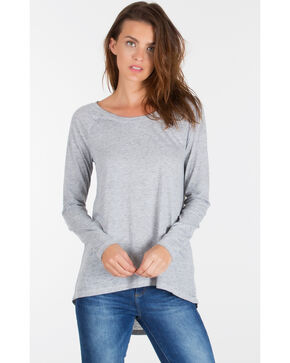 Z Supply Women's Grey Home Run Baseball Tee , Grey, hi-res