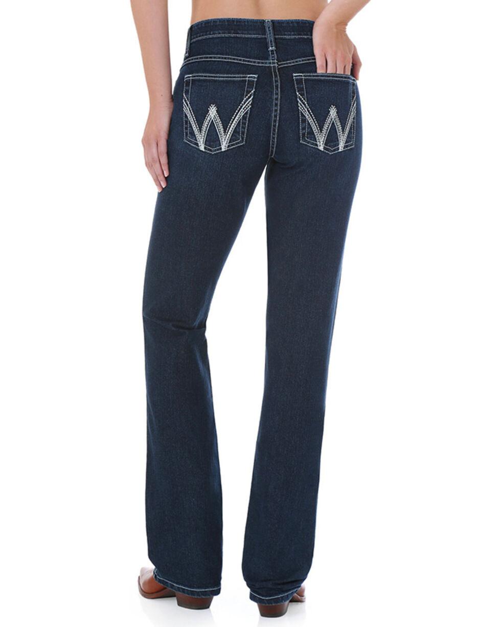 Wrangler Women's Dark Wash Cool Vantage Ultimate Riding Q-Baby Jeans - Plus, Blue, hi-res