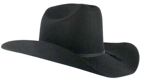 Cody James Men's Denver 2X Felt Cowboy Hat Black, Black, hi-res