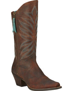 Ariat Fanfare Zippered Cowgirl Boots - Snip Toe, , hi-res