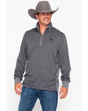Cinch Men's 1/4 Zip Pullover Sweatshirt, Charcoal, hi-res