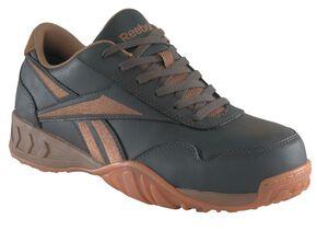 Reebok Men's Bema Work Shoes - Composite Toe, Brown, hi-res