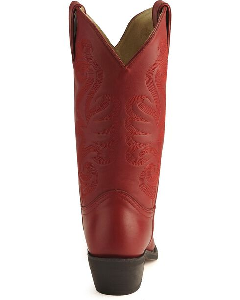 Durango Cowgirl Boots - Pointed Toe, Red, hi-res