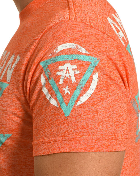 American Fighter Men's Orange Beckett Tee , Orange, hi-res