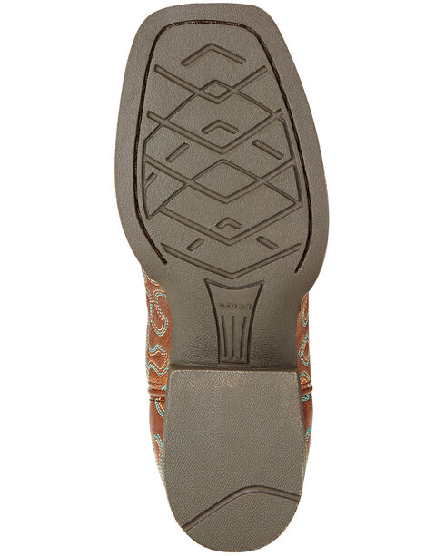 Ariat Girls' Crossroads Cowgirl Boots - Square Toe, Wood, hi-res