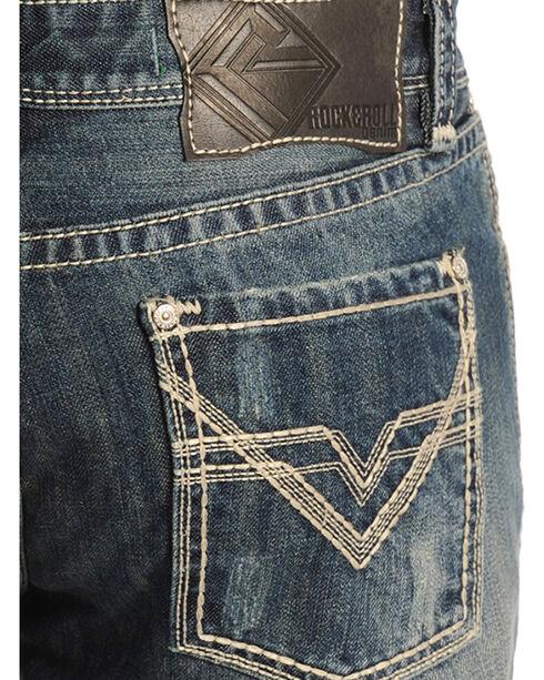 Rock & Roll Cowboy Men's Pistol Medium Wash Mid Rise Jeans - Straight Leg, Indigo, hi-res