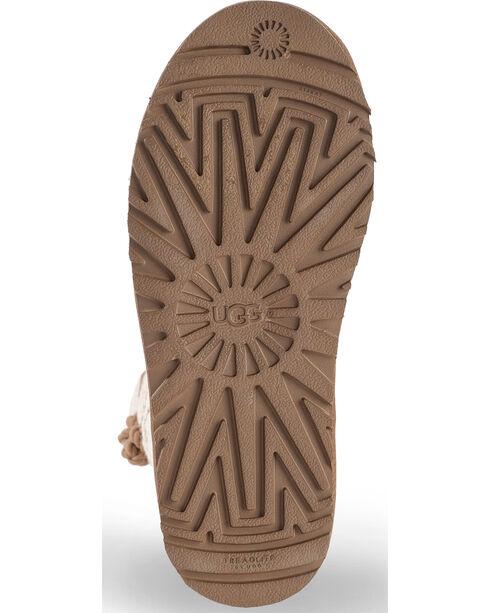 UGG Women's Fawn Kalla Knit Boots - Round Toe , Beige/khaki, hi-res