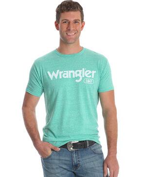 Wrangler Men's Snow Heather Short Sleeve Tee , Green, hi-res