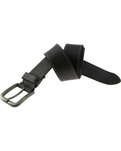 Timberland Men's 40MM Oily Milled Leather Belt, Black, hi-res