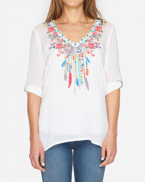 Johnny Was Women's White Butterfly of Dreams Top, White, hi-res