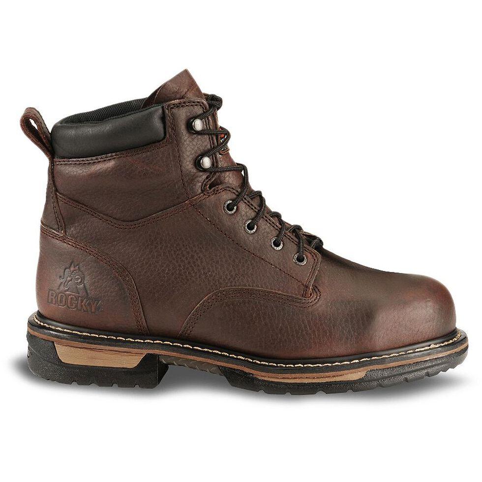 "Rocky 6"" IronClad Waterproof Work Boots - Steel Toe, Bridle Brn, hi-res"