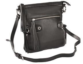 Scully Black Leather Shoulder Bag, Black, hi-res