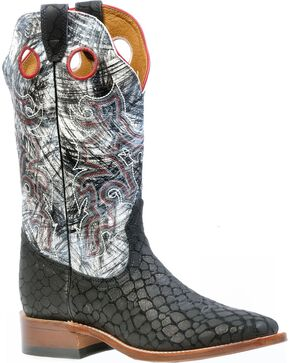 Boulet Puzzle Cowgirl Boots - Square Toe, Black, hi-res