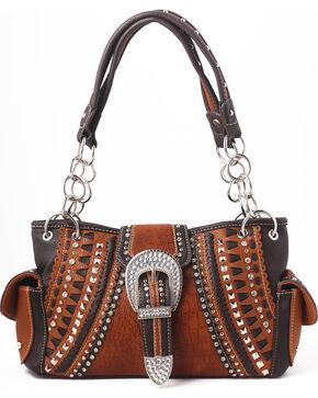 Shyanne Women's Buckle Double Chain Whipstitch Bag - Khaki, Black, hi-res