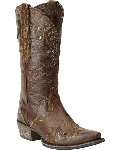 Ariat Zealous Cowgirl Boots - Snip Toe, Brown, hi-res