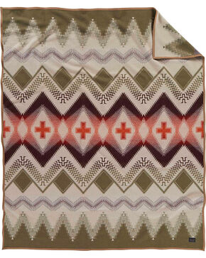 Pendleton Beargrass Mountain Pattern Blanket, Tan, hi-res