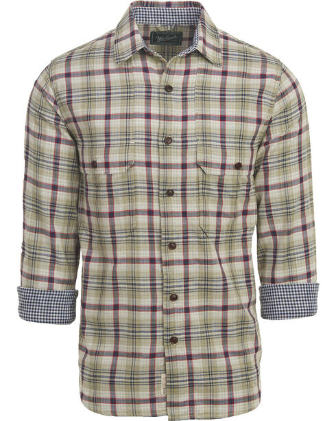 Woolrich Men's Weekend Eco Rich Double Weave Shirt , Green, hi-res
