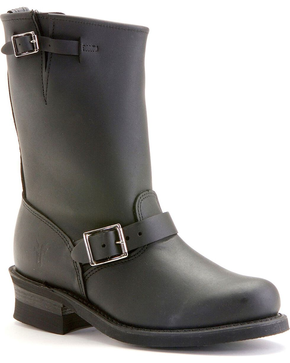 Frye Women's Engineer 12R Boots - Round Toe, Black, hi-res
