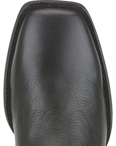 Ariat Heritage Roper Boots - Wide Square Toe, Black, hi-res