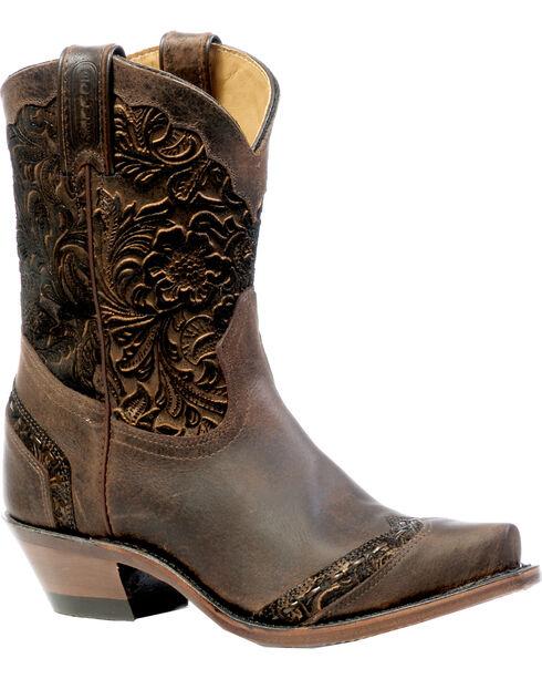 Boulet Art Barocco Calf Split Short Cowgirl Boots - Snip Toe, Wood, hi-res