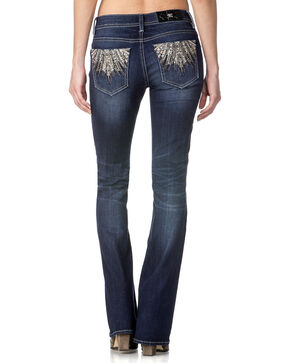 Miss Me Women's When Sparks Fly Embellished Jeans - Boot Cut , Indigo, hi-res