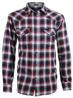 Cody James Men's Castle Creek Plaid Flannel Shirt, Grey, hi-res