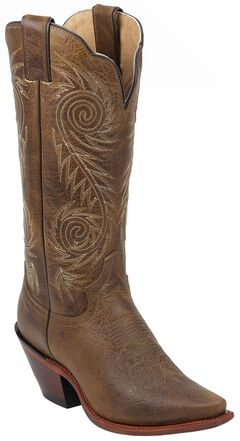 Justin Tan Damiana Western Cowgirl Boots - Pointed Toe, , hi-res