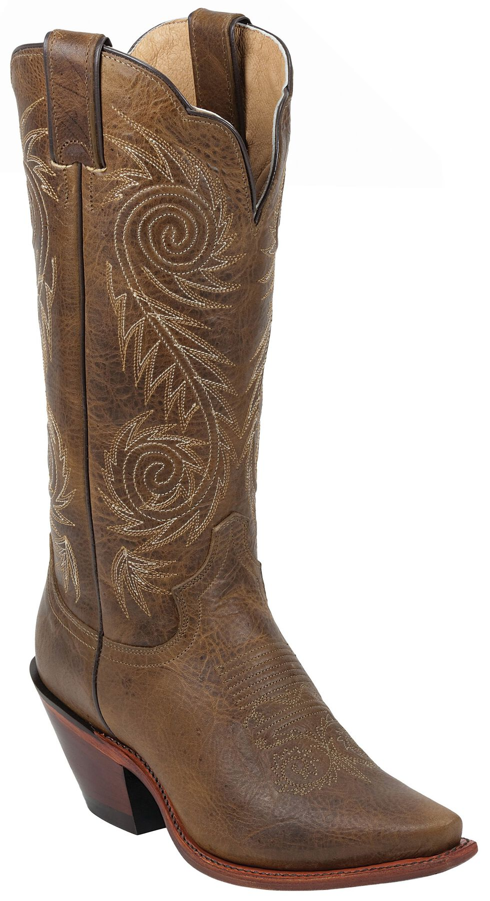 Justin Women's Tan Damiana Cowgirl Boots - Pointed Toe, Tan, hi-res