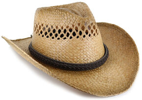 Cody James Burnt Tan Straw Hat, Multi, hi-res