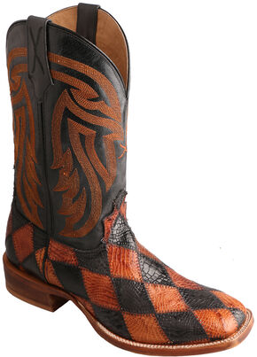 Twisted X Black & Peanut Caiman Rancher Cowboy Boots - Square Toe , Multi, hi-res