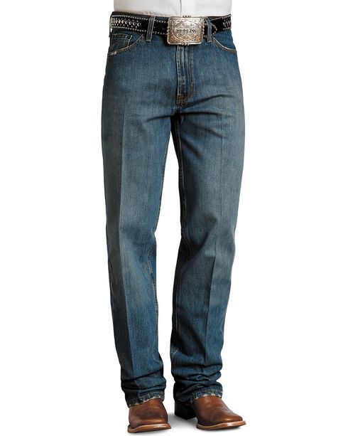 Stetson Standard Medium Stonewash Relaxed Fit Straight Leg Jeans - Big & Tall, Med Stone, hi-res