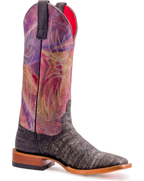 Macie Bean Women's Love At First Bite Boots - Square Toe , Black, hi-res
