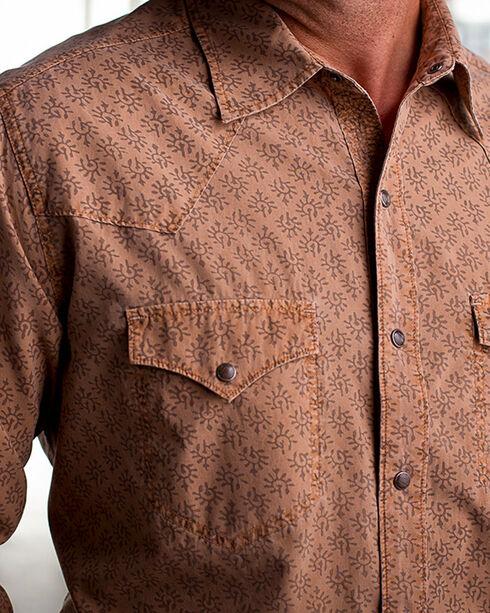 Ryan Michael Men's Saffron Wood Cut Tencel Shirt , Lt Brown, hi-res