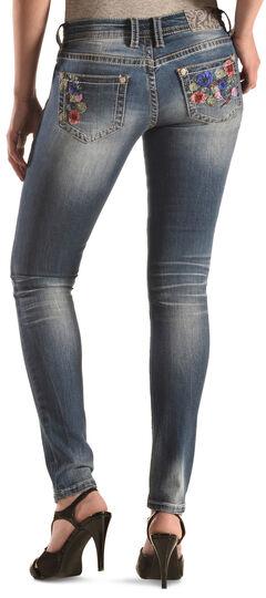 Grace in LA Floral Skinny Jeans, Denim, hi-res