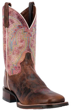 Dan Post Cowboy Certified Teton Cowboy Boots - Square Toe , Chestnut, hi-res