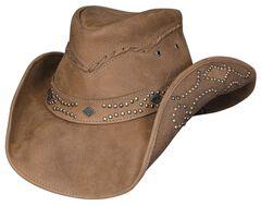 Bullhide Hidden Pleasure Leather Hat, Honey, hi-res