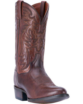 Dan Post Men's Centennial Chocolate Western Boots - Round Toe, Chocolate, hi-res