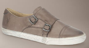 Frye Women's Mindy Monk Sneakers, Grey, hi-res