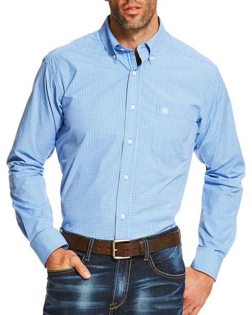 Ariat Men's Blue Oakville Pro Performance Long Sleeve Shirt , Blue, hi-res