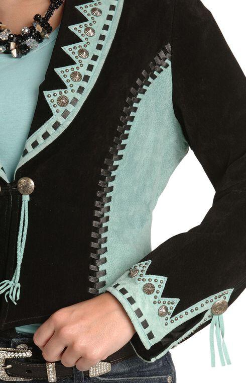 Scully Bolero Leather Jacket, Black, hi-res