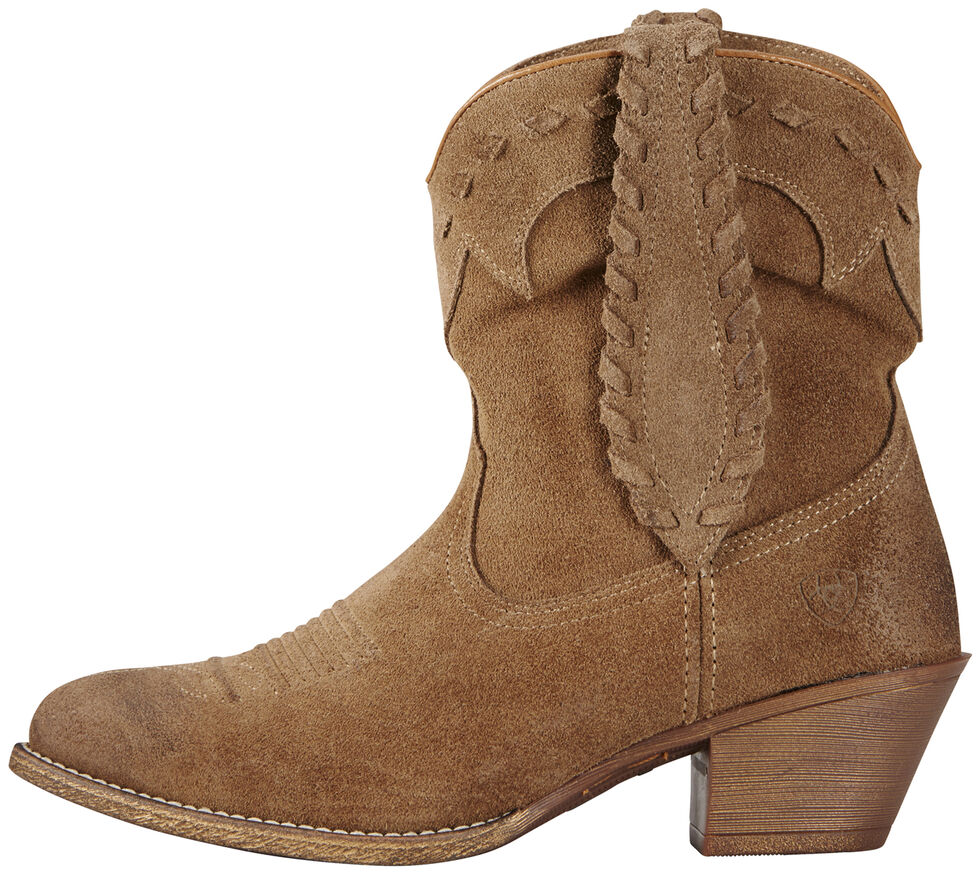 Ariat Relaxed Bark Women's Round Up Rianda Boots - Round Toe, Tan, hi-res