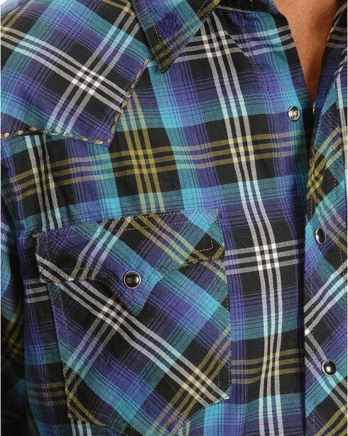 Tin Haul Horizon Multi Colored Plaid Long Sleeve Shirt, Multi, hi-res
