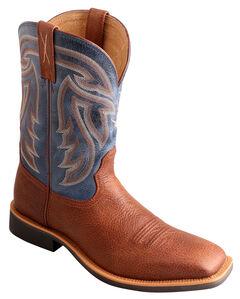Twisted X Denim Stockman Cowboy Boots - Square Toe , , hi-res