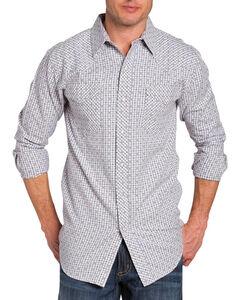 Resistol Double Men's Afton Check Long Sleeve Shirt, White, hi-res
