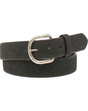 Nocona Men's Western Scroll Belt , Black, hi-res