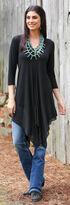 Wrangler Women's Black 3/4 Sleeves Tunic , Black, hi-res