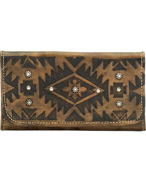American West Mystic Shadow Tri-Fold Wallet, Dark Brown, hi-res