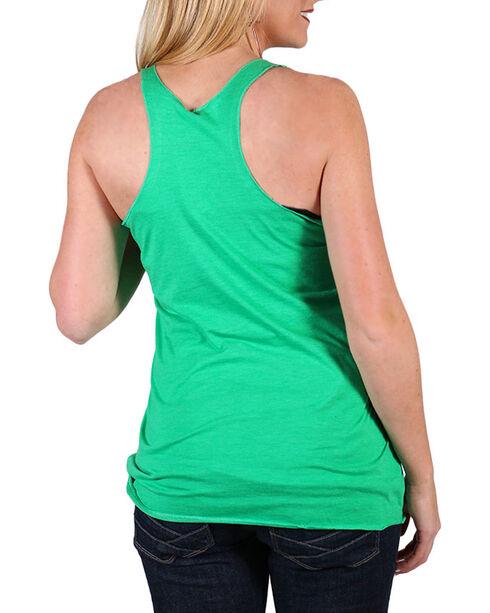 Cowgirl Tuff Women's Green Margarita Tank Top , Green, hi-res
