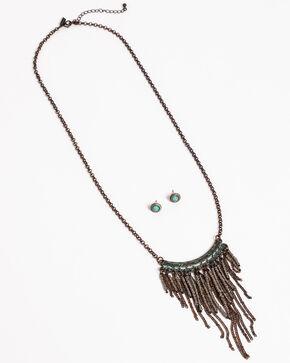 Shyanne Women's Sage Brush Fringe Jewelry Set, Turquoise, hi-res